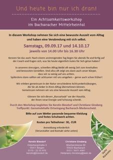 Workshops im Herbst